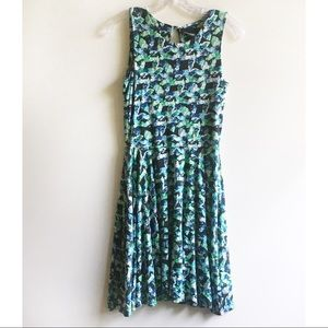 Cynthia Rowley dress floral fit and flare green